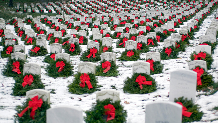 Christmas Wreath Laying at Arlington National Cemetery