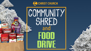 FREE Community Shred and Food Drive